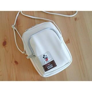ミッキーマウス - ミッキーマウス スマホも長財布も入るミニショルダーバッグ
