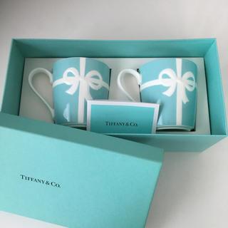 ティファニー(Tiffany & Co.)の♡新品Tiffanyペアマグカップ♡(グラス/カップ)