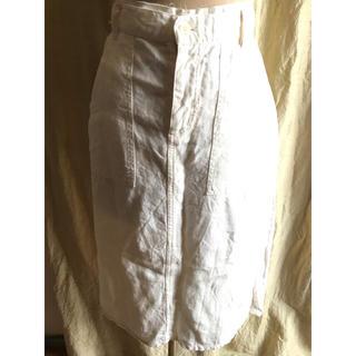 MILFOIL Irish linen カジュアルスカート(ひざ丈スカート)