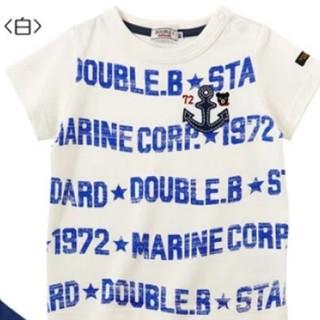 DOUBLE.B - 新品タグ付き ミキハウス ダブルB マリンロゴ 半袖Tシャツ