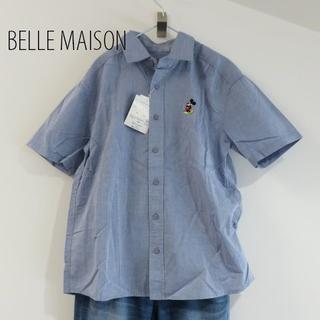 ディズニー(Disney)の新品 BELLE MAISON ベルメゾン ミッキー 半袖 シャツ(シャツ/ブラウス(半袖/袖なし))