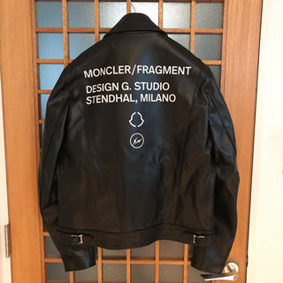 MONCLER - 新品 MONCLER fragment Lewis leathers 藤原ヒロシ