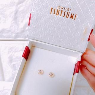 ジュエリーツツミ(JEWELRY TSUTSUMI)のツツミ K18ダイヤモンドピアス(ピアス)