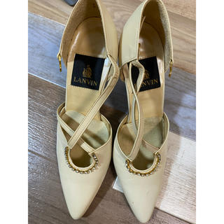 ランバン(LANVIN)のス靴 ランバン サンダル  LANVIN  21.5cm 女性靴 上品(サンダル)