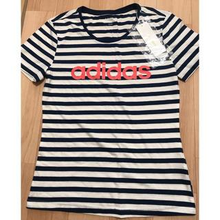アディダス(adidas)のadidas 新品ボーダーTシャツ(Tシャツ(半袖/袖なし))