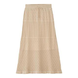 GU - 透かし編みニットスカート