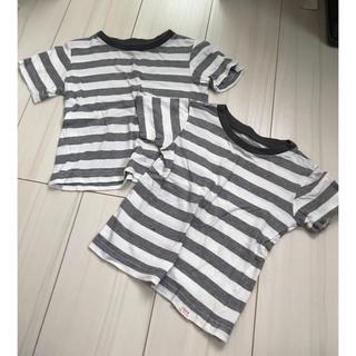 ニシマツヤ(西松屋)のボーダーTシャツ 90 2枚セット(Tシャツ/カットソー)