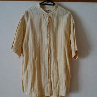 ベルメゾン(ベルメゾン)のノーカラー半袖シャツ sizeL(シャツ)