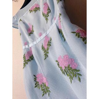 トッカ(TOCCA)のトッカ TOCCA  JASMINE  ジャスミン 花柄刺繍 ワンピース(ひざ丈ワンピース)