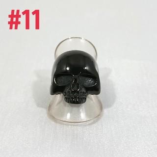 ステンレスブラックスカルring#11(リング(指輪))