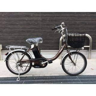 パナソニック(Panasonic)の地域限定 ビビ 20インチ 新基準 小径車 12AH 茶 神戸市 電動自転車(自転車本体)