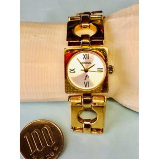 フォッシル(FOSSIL)のV09)お洒落な♡フォッシル・Fz 電池交換済みゴールドブレスウォッチ(腕時計)
