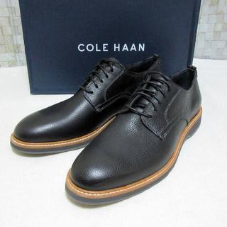 コールハーン(Cole Haan)の新品 COLE HAAN レースアップシューズ ブラック革靴 9M 26.5cm(ドレス/ビジネス)