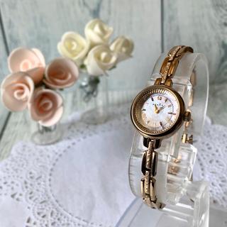 アガット(agete)の【美品】agete アガット 腕時計 ピンクゴールド ソーラー(腕時計)