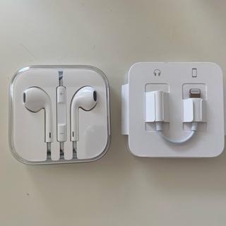 アイフォーン(iPhone)のApple iphone イヤフォン(ヘッドフォン/イヤフォン)