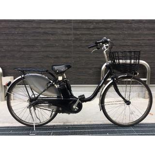 パナソニック(Panasonic)の地域限定 ビビ DX 新基準 子供乗せ 16AH 黒 神戸市 電動自転車(自転車本体)