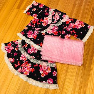 ニシマツヤ(西松屋)の浴衣ドレス セパレート サイズ100(甚平/浴衣)