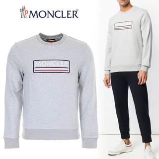 モンクレール(MONCLER)の24 MONCLER プルオーバー BOXロゴ グレー トレーナーXS(スウェット)