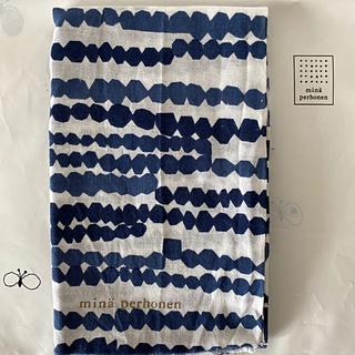 ミナペルホネン(mina perhonen)の#13 ミナペルホネン テキスタイル white blue 新品 期間限定販売(ハンカチ/バンダナ)