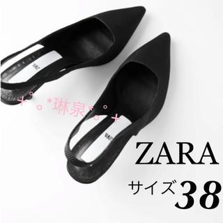 ザラ(ZARA)の2020 新作 ZARA ザラ ミディアムヒール付きスリングバックシューズ(ハイヒール/パンプス)
