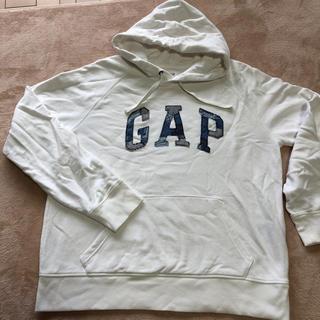 ギャップ(GAP)のGAP パーカー白 Lサイズ(パーカー)