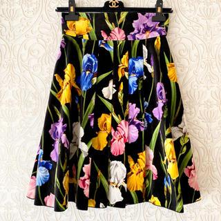 ドルチェアンドガッバーナ(DOLCE&GABBANA)のDOLCE&GABBANA フラワープリント スカート(ひざ丈スカート)