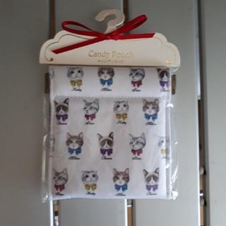 フランフラン(Francfranc)の新品 猫キャンディポーチ 3カラット 東京銀座 コスメ アクセサリー 雑貨 アニ(ポーチ)
