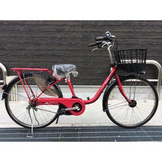 パナソニック(Panasonic)の地域限定 ビビスタイルDX バッテリー新品 赤ピンク 神戸市 電動自転車(自転車本体)