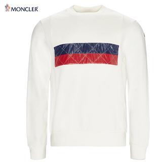 モンクレール(MONCLER)の25 MONCLER プルオーバー トリコロール ホワイト トレーナーL(スウェット)