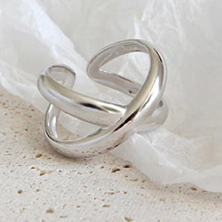 ザラ(ZARA)のシルバー 925 クロス 太リング(リング(指輪))