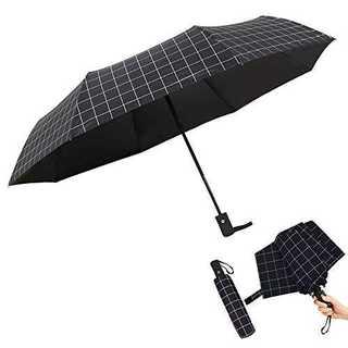 ブラックFUKUYIN 【2020最新版】日傘 折りたたみ傘 自動開閉 UVカッ(傘)
