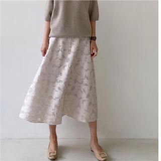 dholic - ストーリーナイン ほんのり透け感フラワースカート
