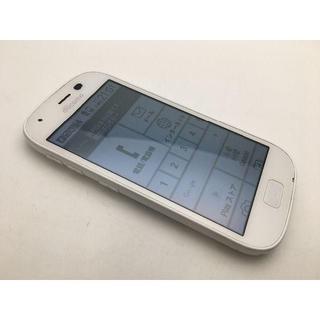 フジツウ(富士通)のSIMフリー ドコモ らくらくスマートフォン4 F-04J ホワイト美品299(スマートフォン本体)