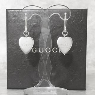 グッチ(Gucci)の正規品 グッチ ピアス フープ ハート シルバー 925 スイング プレート 4(ピアス)
