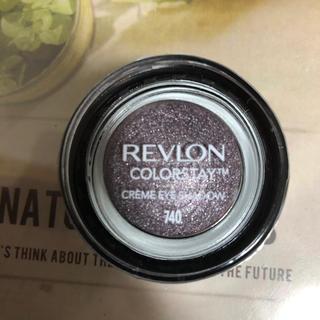 REVLON - レブロン カラーステイクリームアイシャドウ 740 ブラック カラント(4.6g