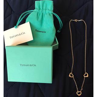 Tiffany & Co. - 8/9まで限定‼️特別特価⭐️Tiffany&Co.オープンハート3連ネックレス