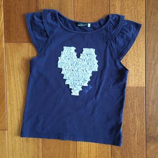 ベベ(BeBe)のBEBE ベベ カットソー ネイビー サイズ130(Tシャツ/カットソー)