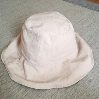 ユニクロ(UNIQLO)のUNIQLO UVカット アジャスタブル ワイドプリムハット ナチュラル 帽子(ハット)