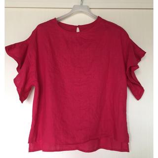 サンカンシオン(3can4on)の3CAN4ON サンカンシオン   プルオーバー  濃ピンク(カットソー(半袖/袖なし))