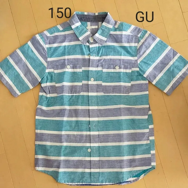 GU(ジーユー)の150 GU 半袖シャツ キッズ/ベビー/マタニティのキッズ服男の子用(90cm~)(Tシャツ/カットソー)の商品写真
