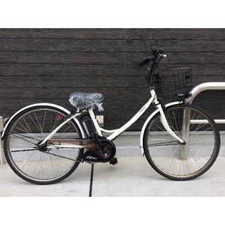 パナソニック(Panasonic)の地域限定 エーガールズ 新基準 シティ 26インチ 白 神戸市 電動自転車(自転車本体)