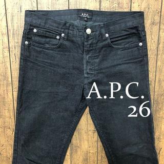 A.P.C - A.P.C. スリムデニムパンツ26/アーペーセー、ブラック、ジーンズ