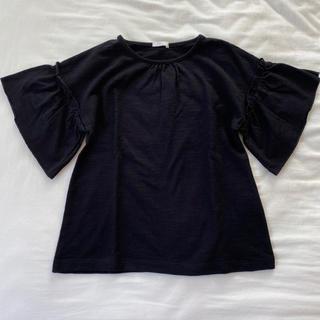 GU - gu 女の子 フリルスリーブt(半袖) tシャツ 120