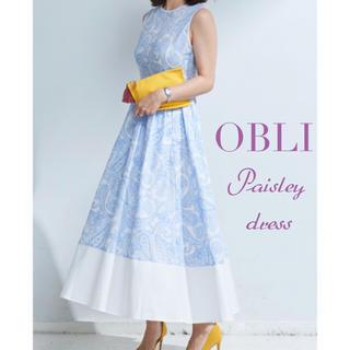 Chesty - タグ付新品 OBLI オブリ ペイズリーワンピース ブルー