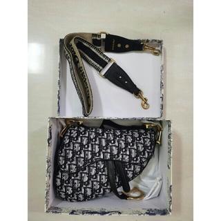 ディオール(Dior)のChristian Diorディオール サドルバッグ トロッター柄 ワンショルダ(ショルダーバッグ)