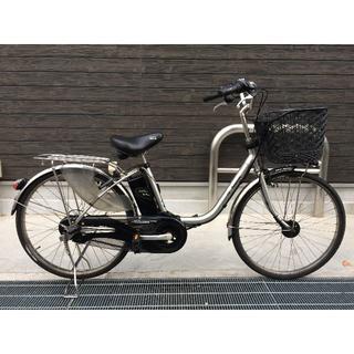パナソニック(Panasonic)の地域限定 ビビDX 新基準 子供乗せ 24インチ シルバー 神戸市 電動自転車(自転車本体)