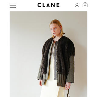clane  クラネ 2019aw BOA VEST LAYERED DOWN