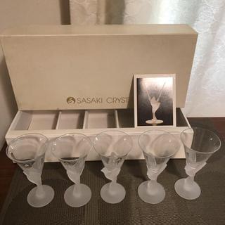 トウヨウササキガラス(東洋佐々木ガラス)のクリスタルグラス5客 佐々木硝子(グラス/カップ)