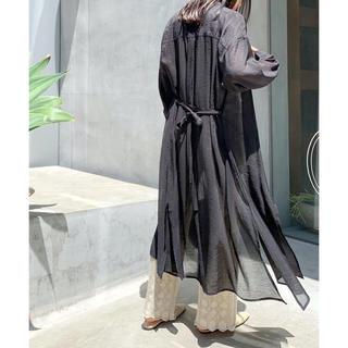 Mila Owen - 【新品タグ付き】♡2020新作♡シアーロングシャツワンピース 春夏 ブラック