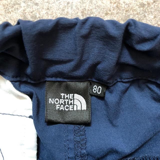 THE NORTH FACE(ザノースフェイス)のザ ノースフェイス ショートパンツ ネイビー 80 キッズ/ベビー/マタニティのベビー服(~85cm)(パンツ)の商品写真